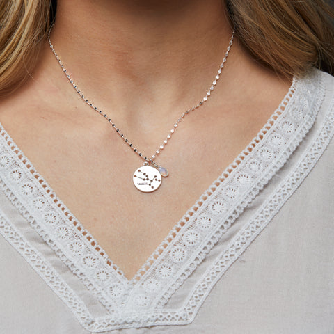 Gemini Necklace in Silver