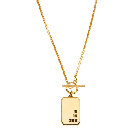 Be The Change Necklace in Gold