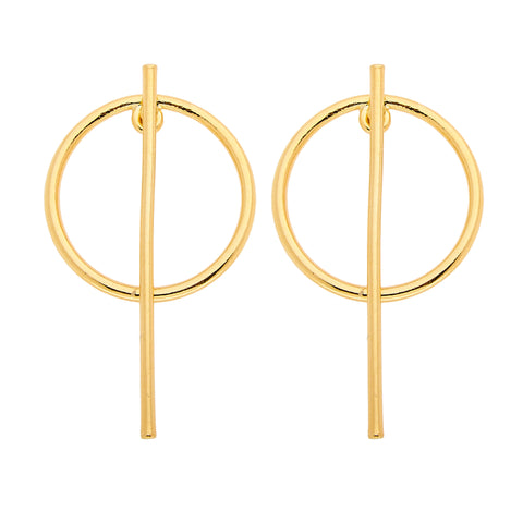 Beatrix Earrings in Gold