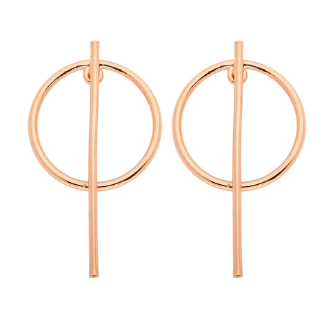 Beatrix Earrings in Rose Gold