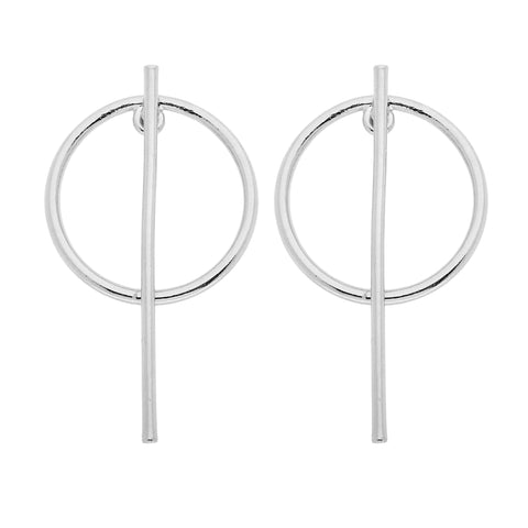 Beatrix Earrings in Silver