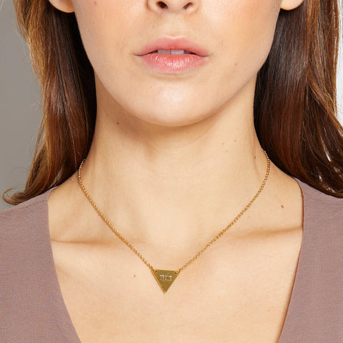 Brave Necklace in Gold