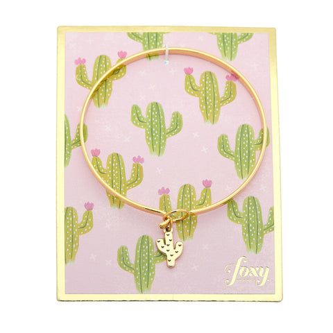 Cactus Bangle in Gold