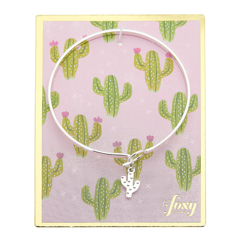 Cactus Bangle in Silver