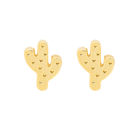 Cactus Earrings in Gold