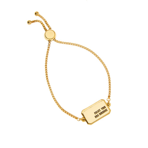 Create Your Own Sunshine Bracelet in Gold