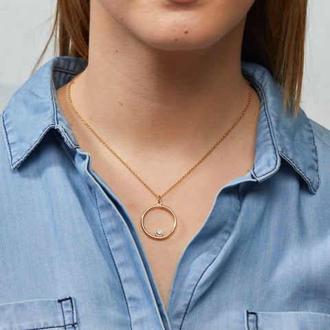 Delilah Necklace in Gold