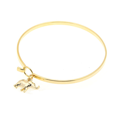 Elephant Bangle in Gold