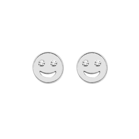 Emoji Earrings in Silver
