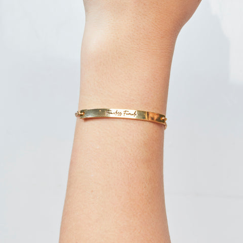 Follow Your Own Path Bracelet in Gold