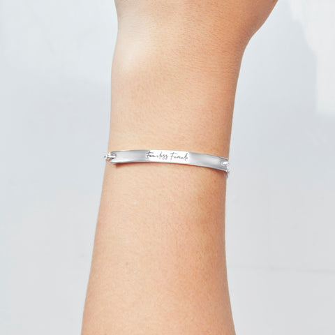 Fearless Female Bracelet in Silver