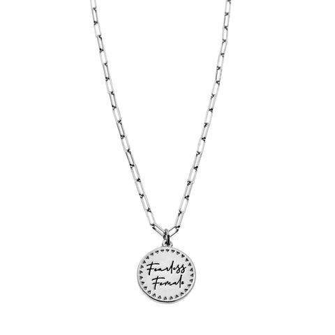 Fearless Female Necklace in Silver