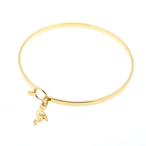 Flamingo Bangle in Gold