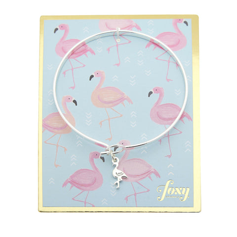 Flamingo Bangle in Silver