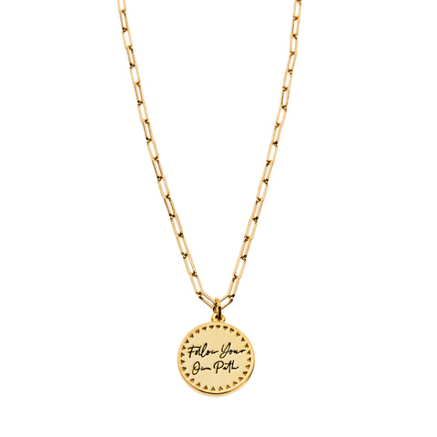 Follow Your Own Path Necklace in Gold