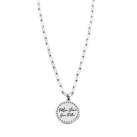 Follow Your Own Path Necklace in Silver