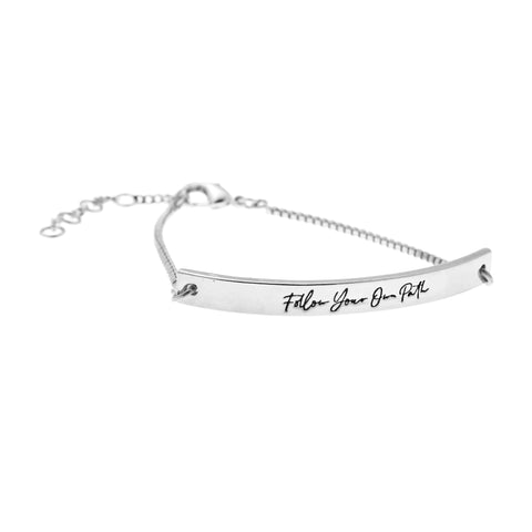 Follow Your Own Path Bracelet in Silver