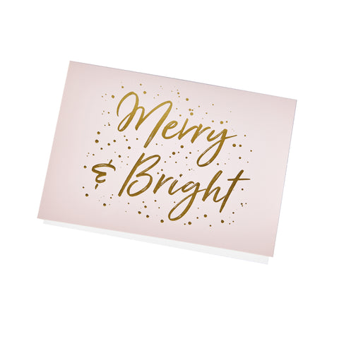 Merry and Bright Holiday Note Card