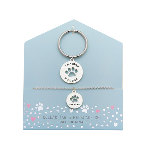 Fur Mama Necklace & Collar in Silver
