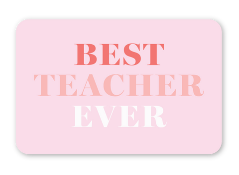 Teacher Gift Certificate
