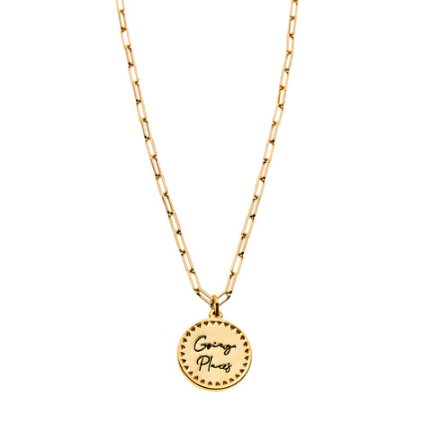 Going Places Necklace in Gold