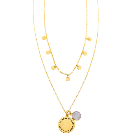 Happy Necklace in Gold