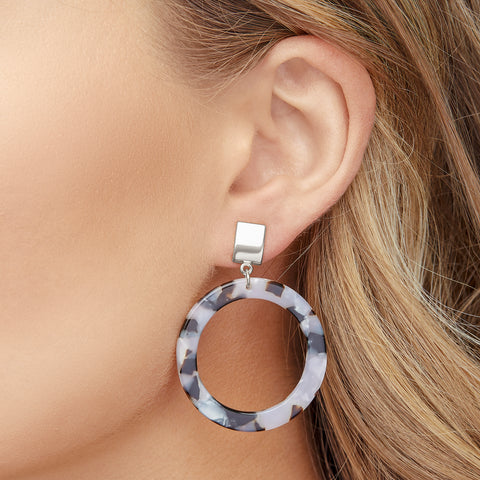 Brooke Earrings in Silver