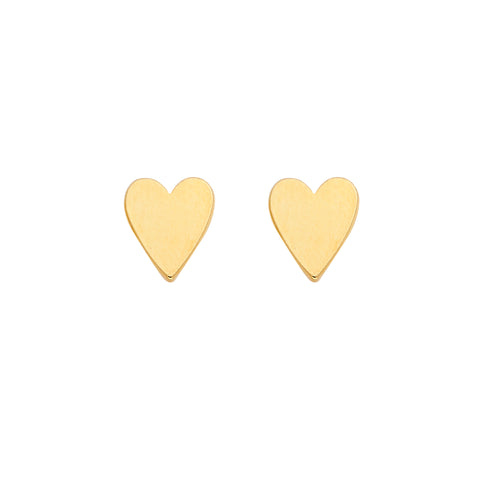 Heart Earrings in Gold