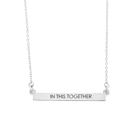 In This Together Bar Necklace in Silver