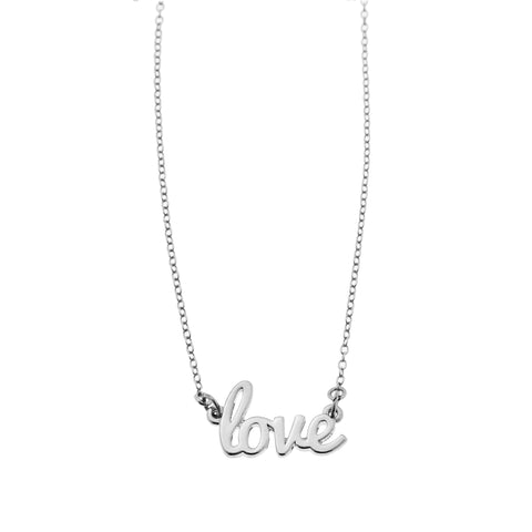 Love Necklace in Silver