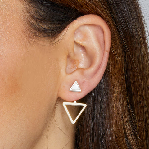 Mable Ear Jacket in Silver