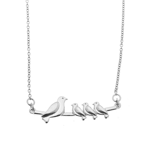 Mama Necklace - 3 babies in Silver