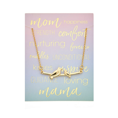 Mama Necklace - 1 baby in Gold