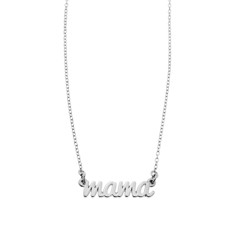Mama Necklace in Silver