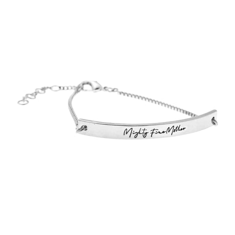 Mighty Fine Mother Bracelet in Silver