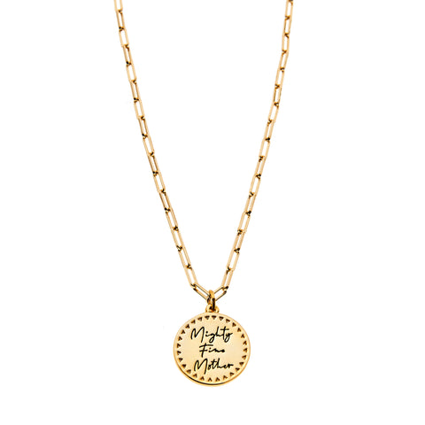 Mighty Fine Mother Necklace in Gold