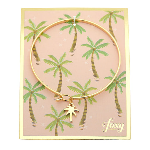 Palm Bangle in Gold