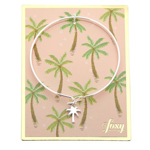 Palm Bangle in Silver
