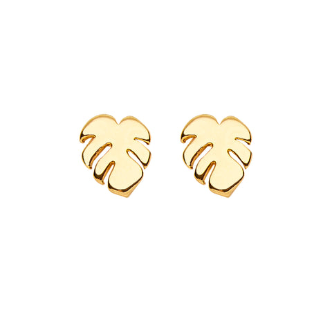 Palm Earrings in Gold