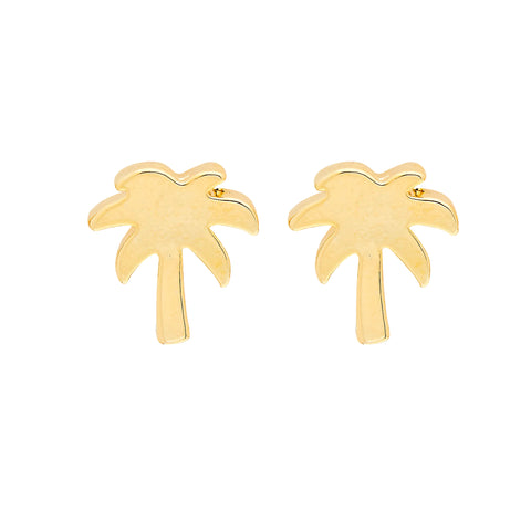 Palm Tree Earrings in Gold