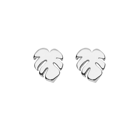 Palm Earrings in Silver