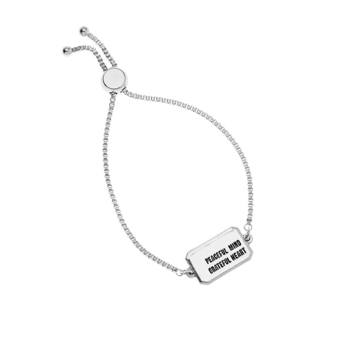 Peaceful Mind Grateful Heart Bracelet in Silver