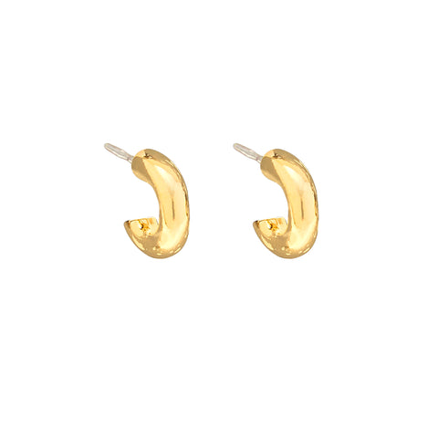 Petit Hoops in Gold