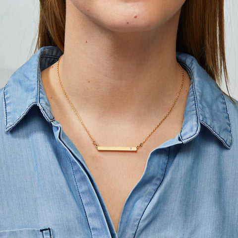 Skyler Necklace in Gold