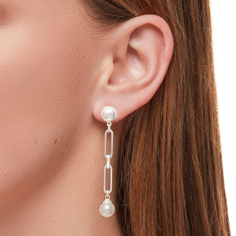Casper Earrings in Silver