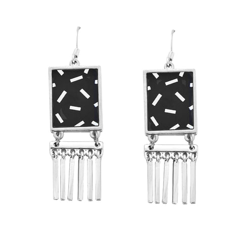 Sprinkle Fringe Earrings in Silver