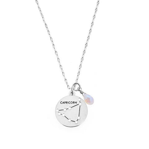 Capricorn Necklace in Silver