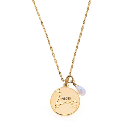 Pisces Necklace in Gold