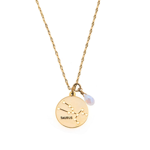 Taurus Necklace in Gold