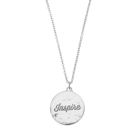 Teacher Inspire Necklace in Silver
